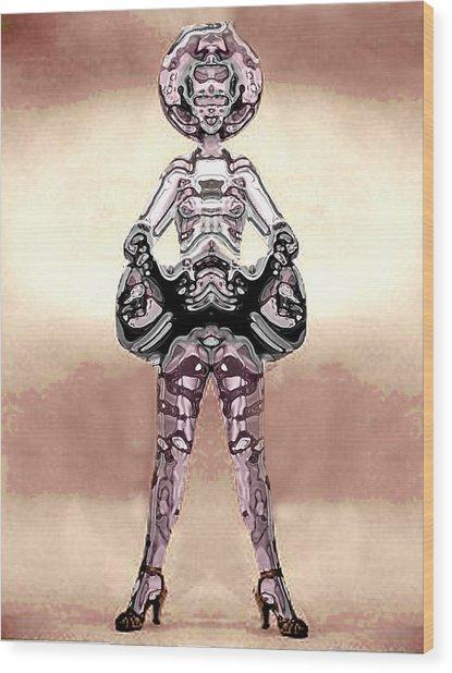 Cowgirl Wood Print by Peter Lloyd