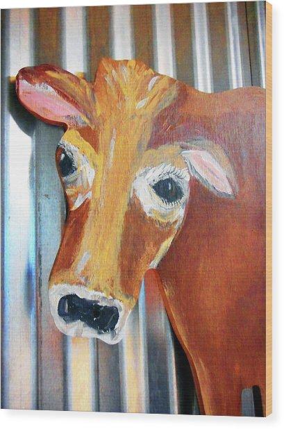 Cows 4 Wood Print
