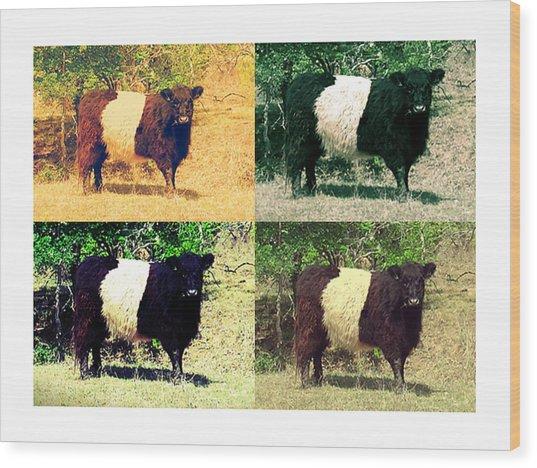 Cows Wood Print by Joanne Elizabeth