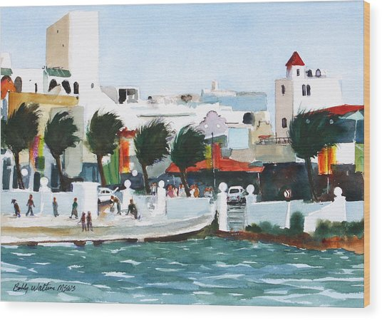 Cozumel By The Sea Wood Print