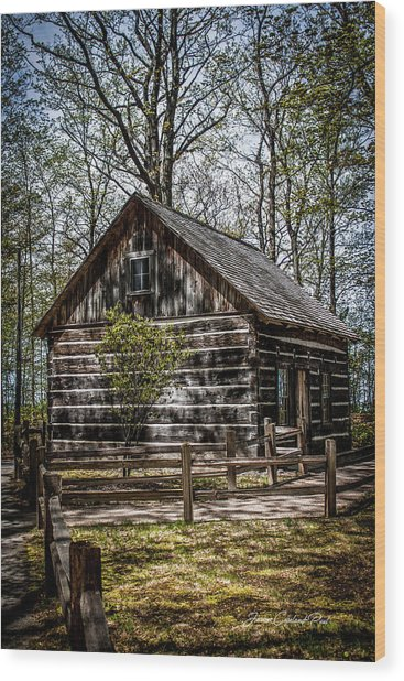 Cozy Cabin Wood Print
