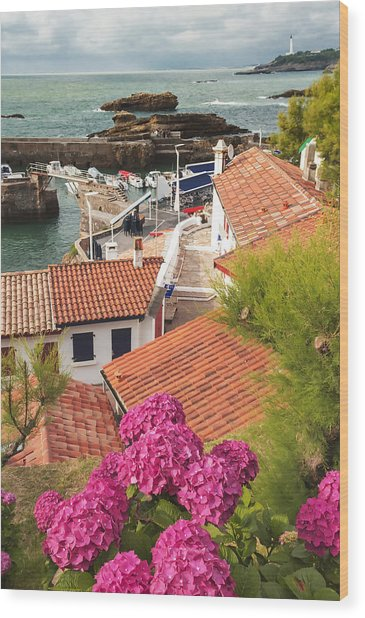 cozy tourist town on the Bay of Biscay Wood Print
