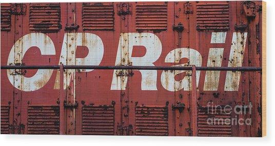 Cp Rail Wood Print
