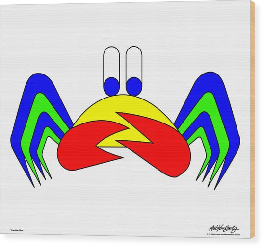Crab-mac-claw Wood Print by Asbjorn Lonvig