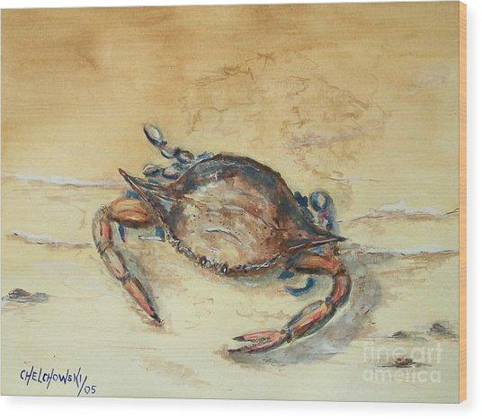Crab Wood Print
