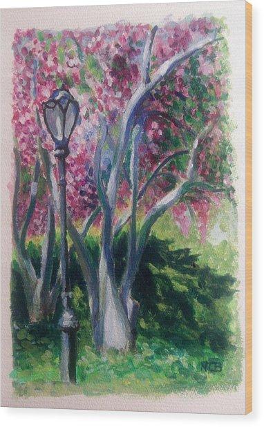 Crabapple Spring Burst Wood Print