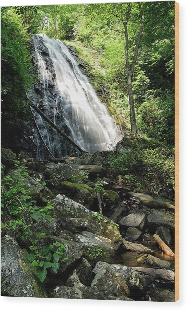 Crabtree Falls Wood Print