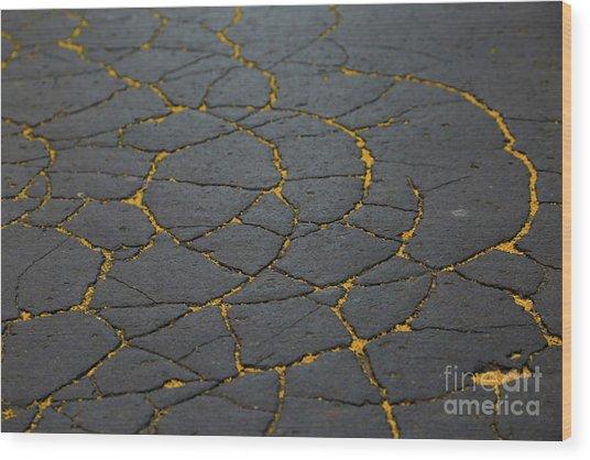 Cracked #11 Wood Print