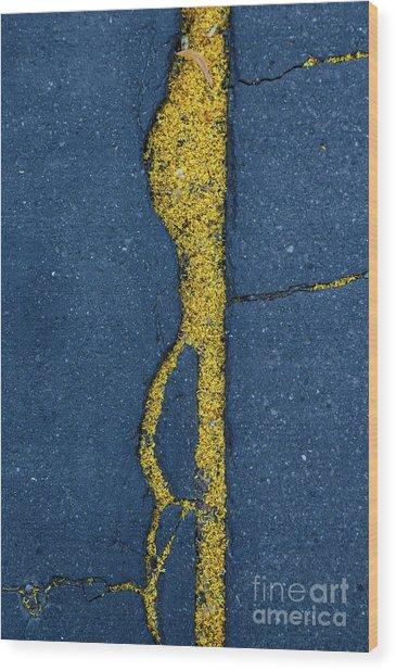 Cracked #3 Wood Print