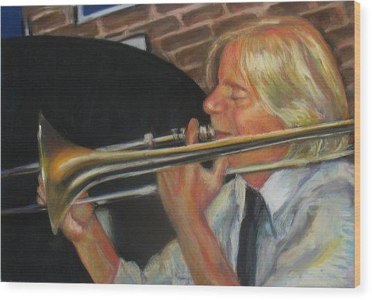 Craig At Palm Court Wood Print