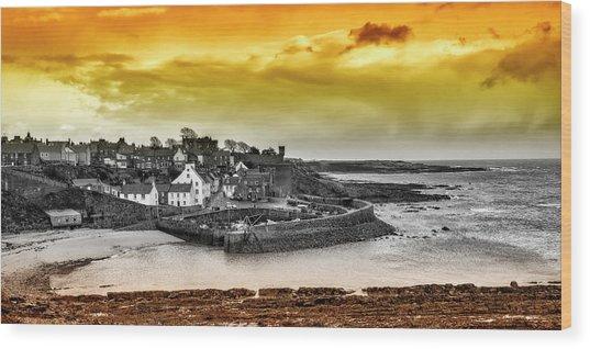 Crail Harbour Wood Print