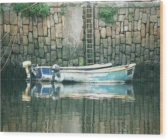 Crail Harbour Wood Print
