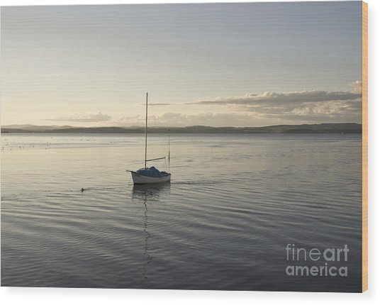 Cramond. Boat. Wood Print