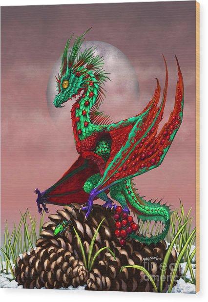 Cranberry Dragon Wood Print