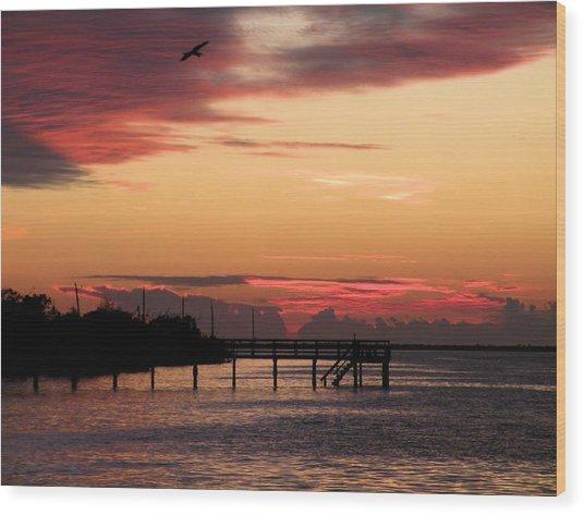 Cranberry Sunset Wood Print by Rosalie Scanlon