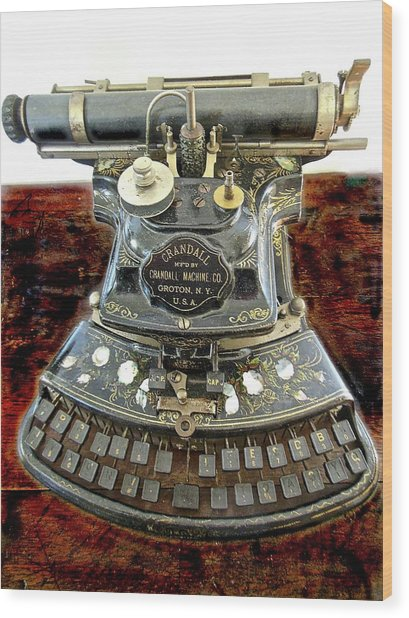 Crandall Type Writer 1893 Wood Print