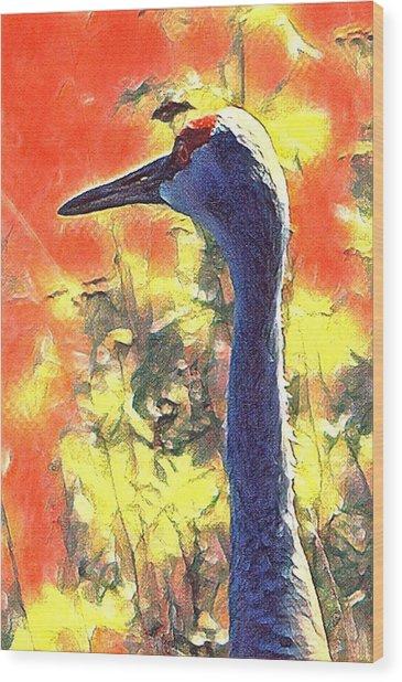 Crane View Wood Print