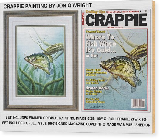 Crappie #2 Wood Print by JQ Licensing