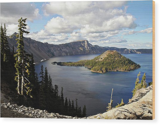 Crater Lake - Intense Blue Waters And Spectacular Views Wood Print