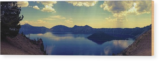Wood Print featuring the photograph Crater Lake 2 by Pacific Northwest Imagery