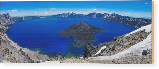 Crater Lake National Park Panoramic Wood Print