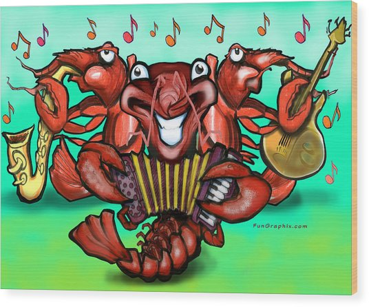 Crawfish Band Wood Print