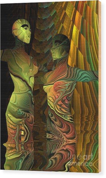 Crazy Dance -2- Wood Print