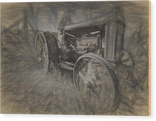 Crazy Farmer Wood Print