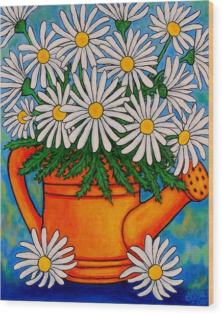Crazy For Daisies Wood Print