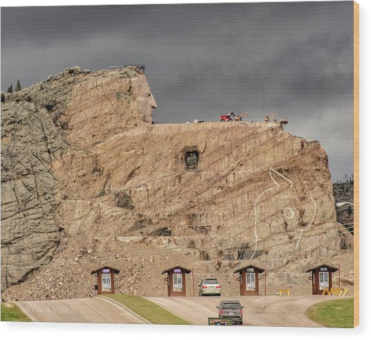 ...entrance Crazy Horse Memorial South Dakota.... Wood Print