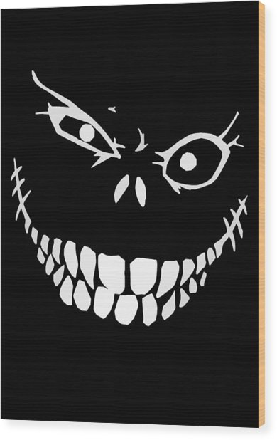 Crazy Monster Grin Wood Print