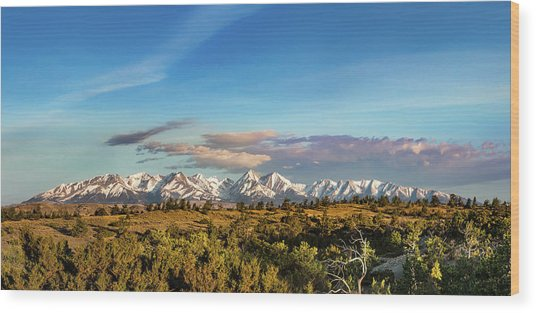 Crazy Mountains Wood Print