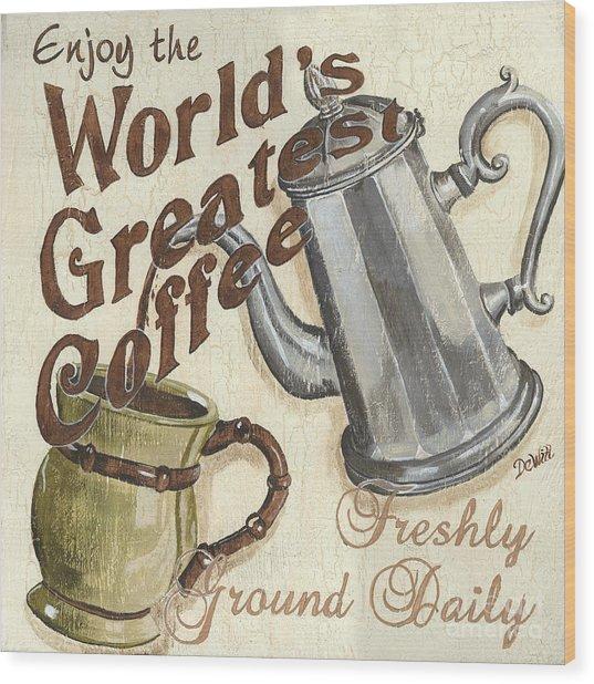 Cream Coffee 1 Wood Print