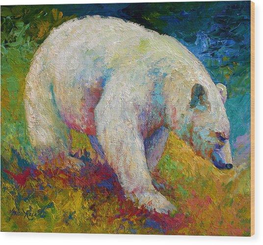 Creamy Vanilla - Kermode Spirit Bear Of Bc Wood Print