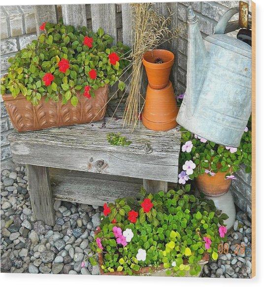 Creative Garden Setting Wood Print