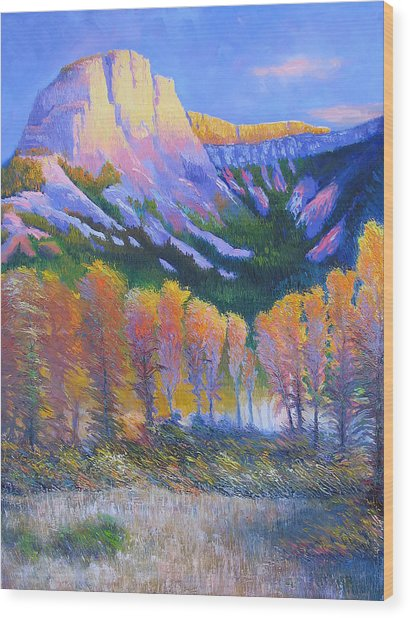 Creator Mountain Wood Print by Gregg Caudell