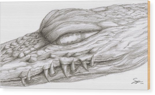 Creature Eyes -1 Wood Print by Steven Powers SMP