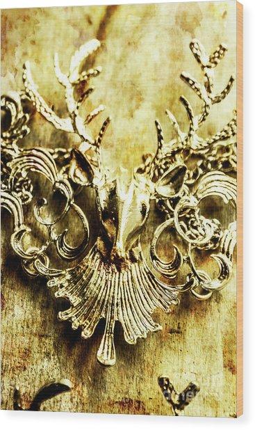 Creature Treasures Wood Print
