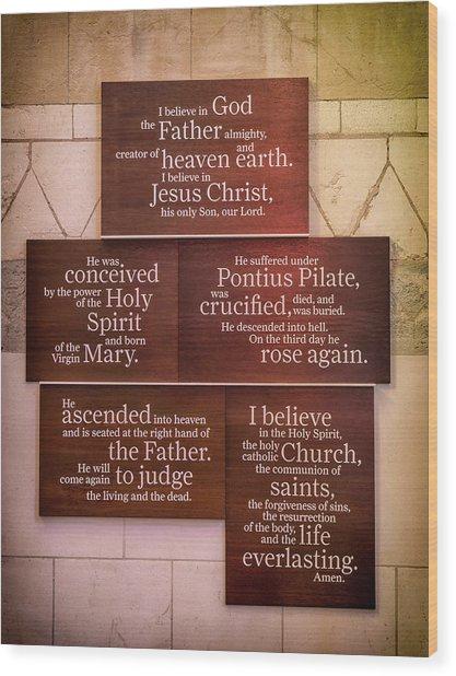 Creed Wood Print
