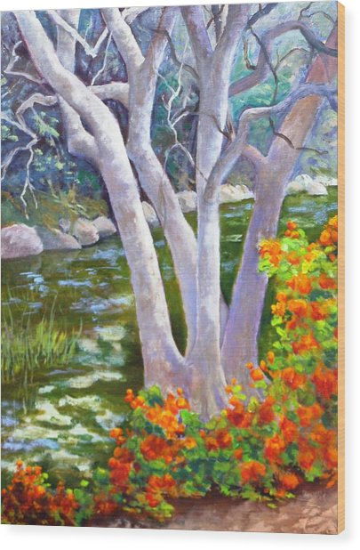 Creekside Wood Print by Dorothy Nalls