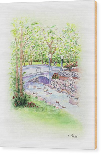 Creekside Wood Print