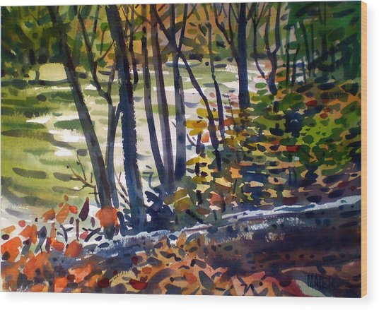 Creekside Tranquility Wood Print by Donald Maier