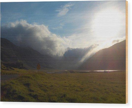 Creeping Evening Clouds Wood Print by Sidsel Genee