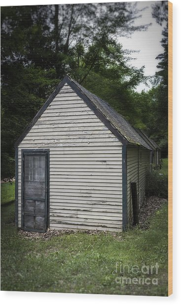 Creepy Old Cabins Wood Print