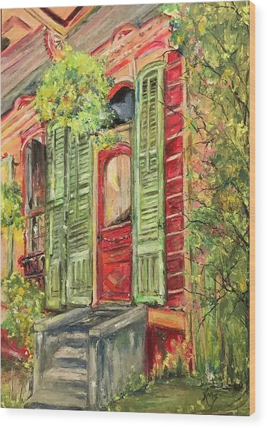 Creole Painted Lady In The Marigny Wood Print