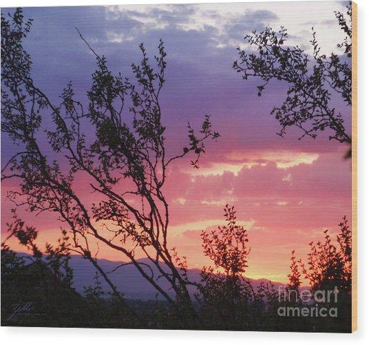 Creosote Sky Wood Print