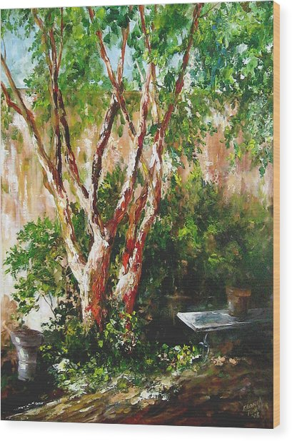 crepe myrtle SOLD Wood Print