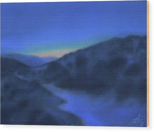 Crepuscule Or Los Penasquitos Canyon Xiv Wood Print by Robin Street-Morris