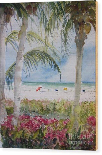 Crescent Beach Marco Island Wood Print