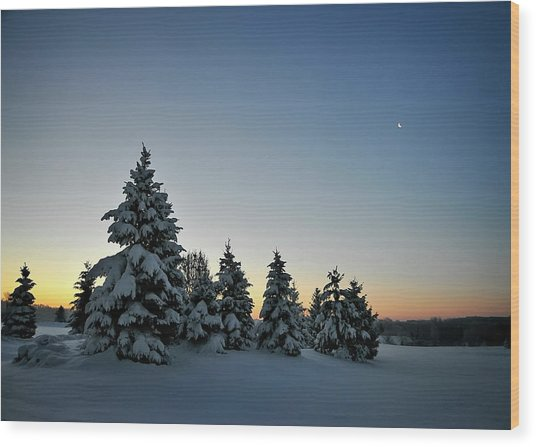 Crescent Dawn Wood Print